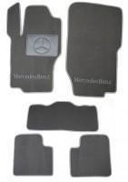 Коврики в салон для Mercedes ML-Class W164 '05-11 текстильные, серые (Люкс)
