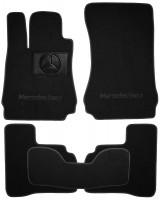 Коврики в салон для Mercedes S-Class W221 '06-13 текстильные, черные (Люкс) 4 клипсы