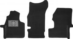 Коврики в салон для Mercedes Sprinter '06- текстильные, черные (Люкс)