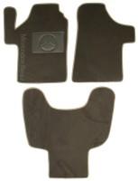 Коврики в салон для Mercedes Vito / Viano '03-13 текстильные, серые (Люкс) передние