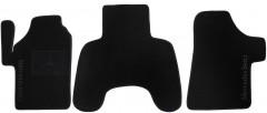 Коврики в салон для Mercedes Vito / Viano '03-13 текстильные, черные (Люкс) передние