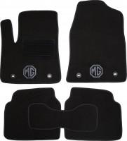 Коврики в салон для MG 550 '08- текстильные, черные (Люкс) 4 клипсы