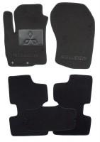 Коврики в салон для Mitsubishi ASX '10- текстильные, черные (Люкс)