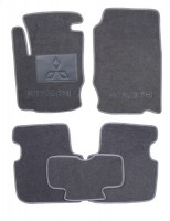 Коврики в салон для Mitsubishi Colt '03-10 текстильные, серые (Люкс) 3 дв.