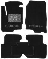 Коврики в салон для Mitsubishi Colt '03-10 текстильные, черные (Люкс) 5 дв.