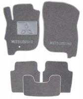 Коврики в салон для Mitsubishi Galant '04-12 текстильные, серые (Люкс)