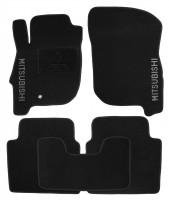 Коврики в салон для Mitsubishi Galant '04-12 текстильные, черные (Люкс)