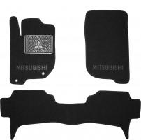 Коврики в салон для Mitsubishi L200 / Triton '10-15 текстильные, черные (Люкс)