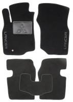 Коврики в салон для Mitsubishi Lancer 9 '04-09 текстильные, черные (Люкс)