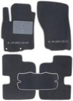 Коврики в салон для Mitsubishi Lancer X (10) '07- текстильные, серые (Люкс)
