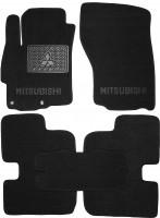 Коврики в салон для Mitsubishi Lancer X (10) '07- текстильные, черные (Люкс)
