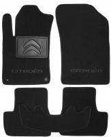 Коврики в салон для Citroen C3 / DS3 '10-16 текстильные, черные (Люкс) +2 кл