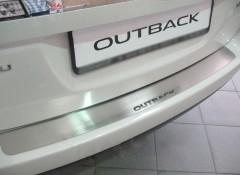 Фото 1 - Накладка на бампер для Subaru Outback '09-14 (Premium)