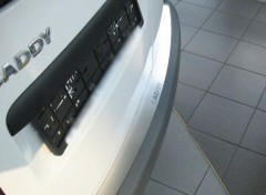 NataNiko Накладка на бампер для Volkswagen Caddy '04-15 (Premium)