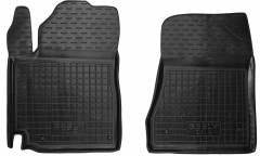 Коврики в салон передние для Geely GC5 '14- резиновые, черные (AVTO-Gumm)