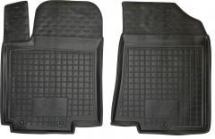 Коврики в салон передние для Kia Rio '15- резиновые, черные (AVTO-Gumm)