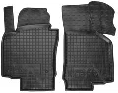 Коврики в салон передние для Volkswagen Golf VI '09-12 резиновые, черные (AVTO-Gumm)