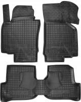 Коврики в салон для Volkswagen Golf VI '09-12 резиновые, черные (AVTO-Gumm)
