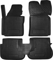 Коврики в салон для Volkswagen Caddy '04-15, 3 дв. резиновые, черные (AVTO-Gumm)