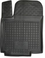 Коврик в салон водительский для Kia Rio '15- резиновый, черный (AVTO-Gumm)