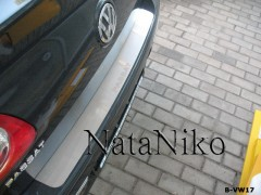 NataNiko Накладка на бампер для Volkswagen Passat B6 '05-10 Седан (Premium)