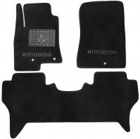 Коврики в салон для Mitsubishi Pajero Wagon 4 '07- текстильные, черные (Люкс)