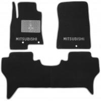 Коврики в салон для Mitsubishi Pajero Wagon 4 '07- текстильные, серые (Люкс)