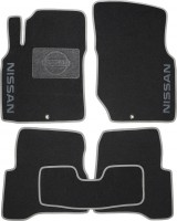 Коврики в салон для Nissan Almera Classic 06-13 текстильные, серые (Люкс)
