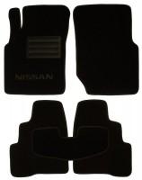 Коврики в салон для Nissan Almera '00-06 текстильные, черные (Люкс)