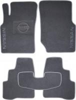 Коврики в салон для Nissan Almera '00-06 текстильные, серые (Люкс)