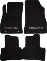 Коврики в салон для Nissan Juke '11- текстильные, черные (Люкс)