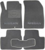 Коврики в салон для Nissan Micra '10-17 текстильные, серые (Люкс)