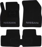 Коврики в салон для Nissan Micra '10-17 текстильные, черные (Люкс)