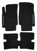 Коврики в салон для Nissan Micra '03-10 текстильные, черные (Люкс)
