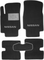 Коврики в салон для Nissan Micra '03-10 текстильные, серые (Люкс)