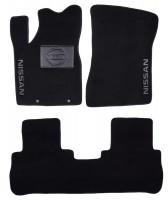 Коврики в салон для Nissan Murano '03-08 текстильные, черные (Люкс)