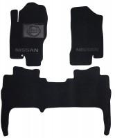 Коврики в салон для Nissan Navara '05-09 текстильные, черные (Люкс)
