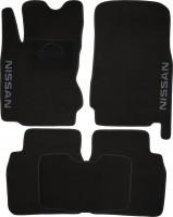 Коврики в салон для Nissan Note '06-13 текстильные, черные (Люкс)