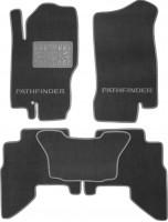 Коврики в салон для Nissan Pathfinder '05-14 текстильные, серые (Люкс)