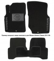 Коврики в салон для Nissan Patrol '10- текстильные, черные (Люкс)