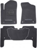Коврики в салон для Nissan Patrol '10- текстильные, серые (Люкс)