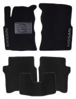 Коврики в салон для Nissan Primera '02-08 текстильные, черные (Люкс)