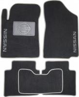Коврики в салон для Nissan Teana '08- текстильные, серые (Люкс)