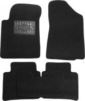 Коврики в салон для Nissan Teana '08- текстильные, черные (Люкс)