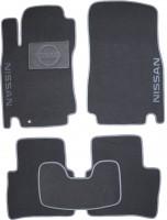 Коврики в салон для Nissan Tiida '05- текстильные, серые (Люкс)