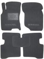 Коврики в салон для Nissan X-Trail '01-07 текстильные, серые (Люкс)