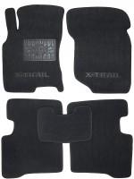 Коврики в салон для Nissan X-Trail '01-07 текстильные, черные (Люкс)