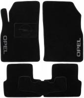 Коврики в салон для Opel Astra J '09-, универсал/хетчбек, текстильные, черные (Люкс)