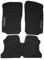 Коврики в салон для Opel Combo '01-12 текстильные, черные (Люкс)