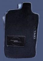 Коврики в салон для Opel Corsa C '00-06 текстильные, черные (Люкс)
